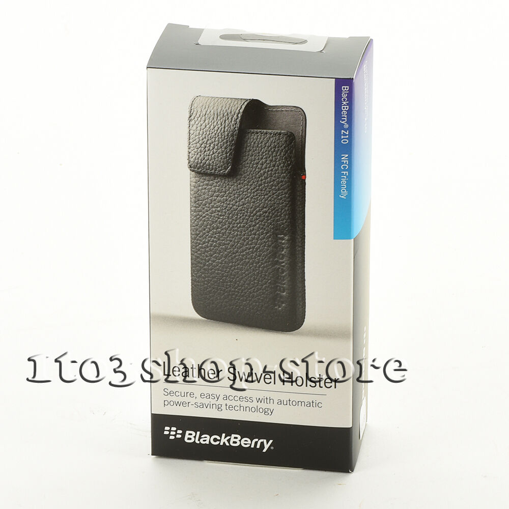 BlackBerry Leather Swivel Holster Case Cover w/Clip for ...