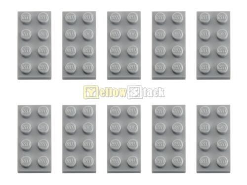 10x LEGO ® 3020 2x4 Plaque Neuf-Gris clair NEUF