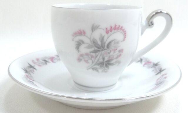 Vintage Demitasse Cup & Saucer Set  SEYEI NAGOYA  JAPAN  506  Fine China  White
