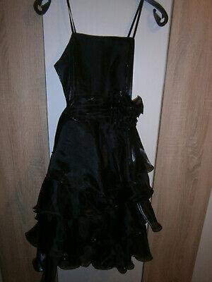 Dynamisch 2 Teilig Honey Girl Abendkleid Partykleid Tüllkleid Chiffon Schwarz Grösse S 36