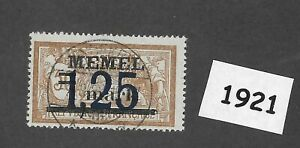 1921-1-25-Mark-Used-stamp-1922-Memel-Lithuania-Prussia-Third-Reich-Germany
