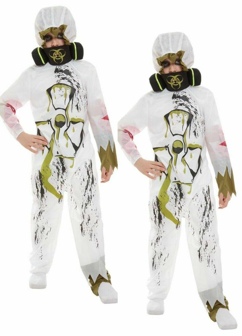 Kids Biohazard Suit Costume - Fancy Dress Halloween Scary Party Horror