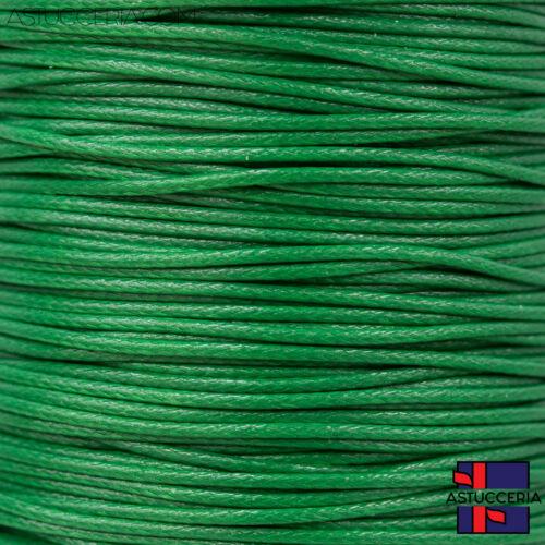 Filo Per Gioielli Cordoncino Di Cotone Cerato 3,0mm 100mt Verde Scuro Per Gioiel