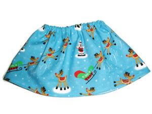 Santa-amp-Reindeer-Skirt-fits-American-Girl-18-034-Doll-Clothes-Christmas