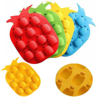 Ananas Pattern Silicone Bar Cocktail Juice Ice Cube Tray Mould Maker Mold DIY