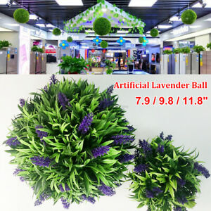 1//2pcs Outdoor Hanging Topiary Lavender LUSH Artificial Ball Leaf Basket Wedding