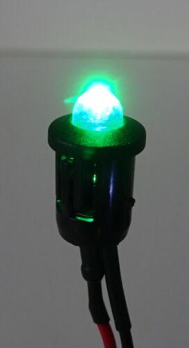 LED 5mm con plastica versione supporto 9-12v cablato in 7 COLORI MODELLISMO