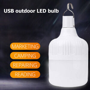 Outdoor USB Rechargeable LED Bulb Light Emergency USB Rechargeable Hanging Lamp