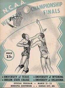 1947 NCAA Western Championship Program Oklahoma Texas Oregon State Wyoming EX!!