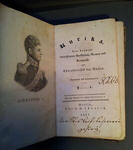Rurika, Caratteristica dei Russi 1827 aneddoti, scenen, Eventi rari!