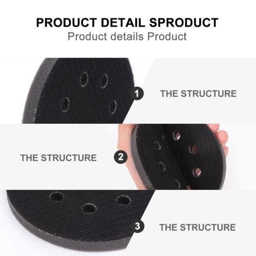 Soft Interface Pad Sponge 8 Hole Soft Sandpaper Pad for Industrial Polishing
