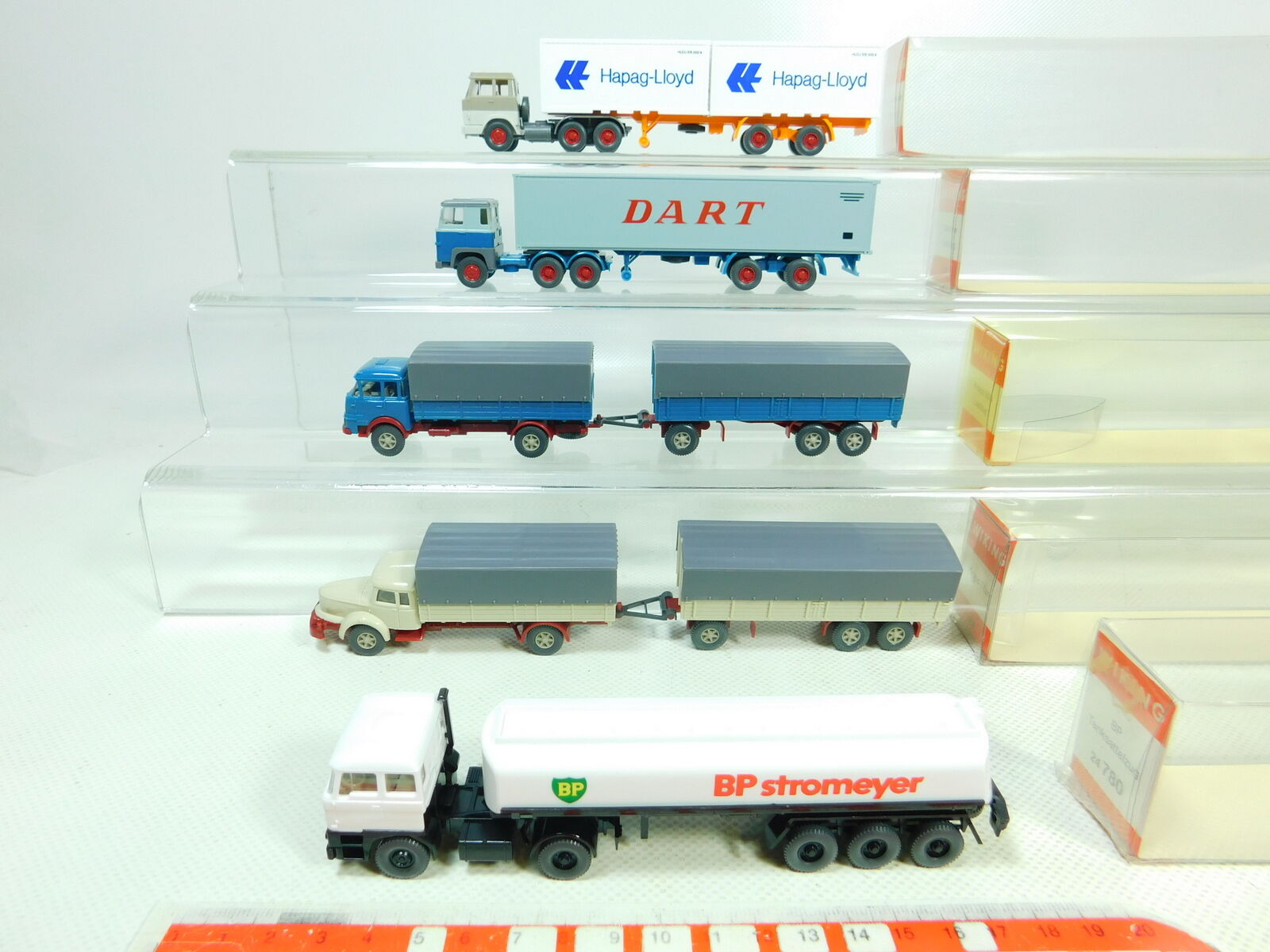 Bt350-0, 5  5x WIKING h0 1 87 camion  520 SCANIA 480 486 Krupp 780 daf521, S.G.  neuf dans sa boîte