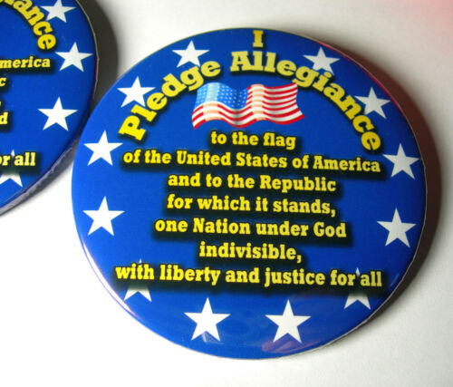 """/""""I Pledge Allegiance/"""" button Two button set with magnets"""