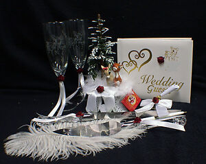 Image Is Loading Rudolf Reindeer Winter Wedding Cake Topper Christmas Gles