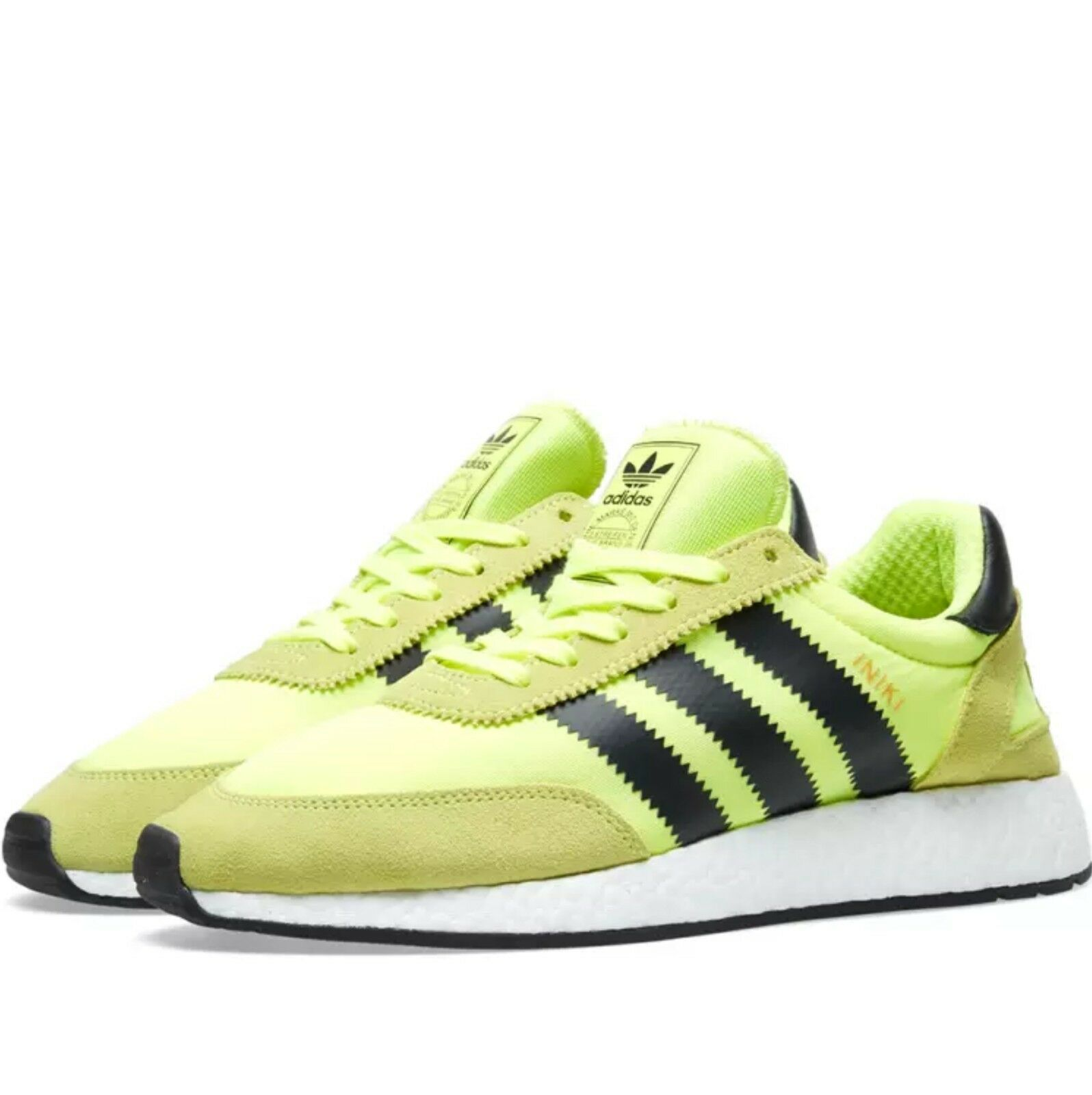 ee579acb7c85f Adidas Orinals INIKI Boost Sneaker Running shoes shoes shoes US 7 Solar  Yellow Black BB2094 d4b375