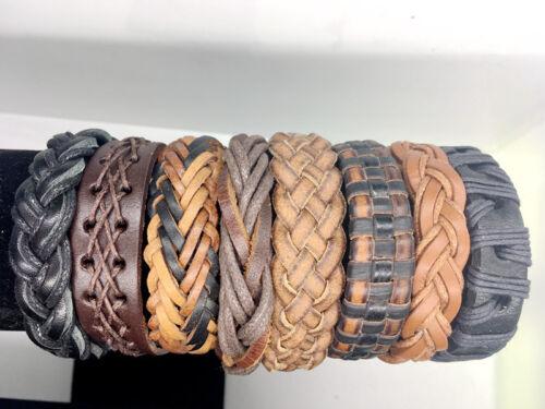 Gros Lots 30//50//100 Pièces Mix Surfer cuff Ethnique Tribal bracelets en cuir