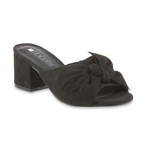 e3e5987b307 Dolcetta Women s Briella Black Pump Sandal Shoes Size 6-8 Medium ...
