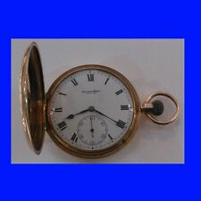Mint 14k Gold IWC 15J Hunter Officers Pocket Watch 1913