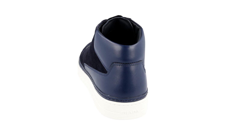 Auth PRADA High Top      in pelle scamosciata blu 4T2863 NUOVO 10,5 44,5 45 f67ef6