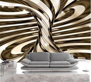 Carta da parati 3d effeto or foto murale design moderno for Parati 3d prezzi