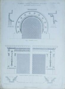 1868-ARCHITEKTONISCH-AUFDRUCK-KAMIN-TEILE-HOLMWOOD-CATHCART-THOMSON-ARCHITEKTEN