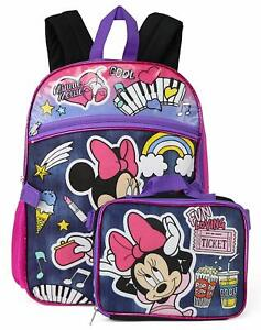 Details About Disney Minnie Mouse S School Backpack Insulated Lunch Box Book Bag Set Kids
