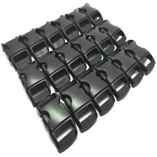 10 X 10MM 3/8 CONTOURED CURVED BUCKLES BLACK WEBBING PARACORD BRACELET BUCKLE