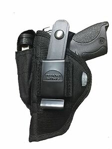 """Ultimate Nylon Gun Holster With Magazine Pouch For Walther Creed 9mm with 4/"""" BBL"""