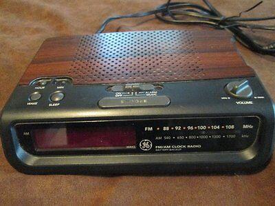 7-4613b Alarm Clocks & Clock Radios Ge Am/fm Wood Grain Alarm Clock Radio Model No