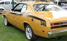 "1971 1972 PLYMOUTH DUSTER 340 SIDE STRIPES KIT DECAL MOPAR 71 72 ""MATT BLACK"""
