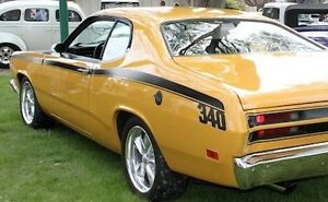 Plymouth duster stripes
