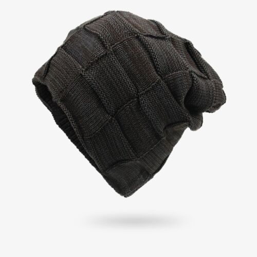 Stretch Beanie Knit Hat Mens Women Winter Warm Ski Cap Solid Slouchy Skull Hats