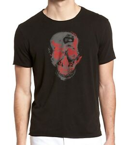 John-Varvatos-Star-USA-Men-039-s-Skull-Two-Tone-Crew-T-Shirt-Black-88-msrp-NWT