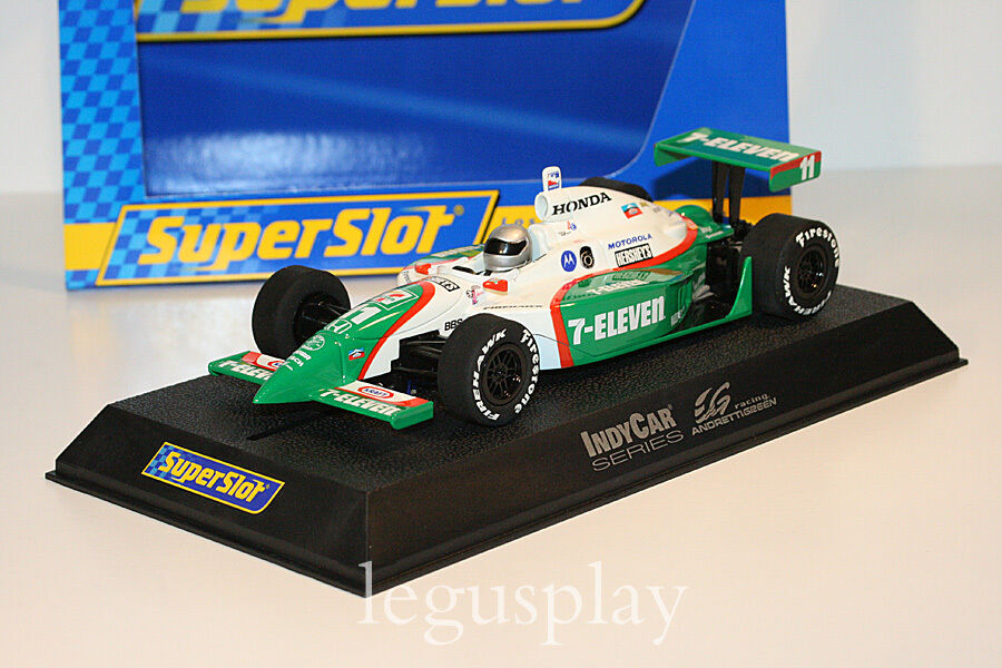 Slot SCX Scalextric Superslot H2572 IRL Dallara Andretti Vert Racing N°11