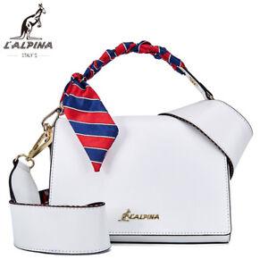 ffee82ee37f05 Das Bild wird geladen L-034-Alpina-Luxus-Handtasche-Crossbody-Schulter- Umhaengetasche-