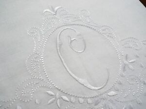 Large-White-Linen-Guest-Bathroom-Hand-Towel-Monogrammed-C-Hemstitched