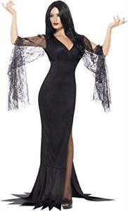 coût-W NEUF noir Âme immortelle Costume avec robe - taille: Robe UK 16-18