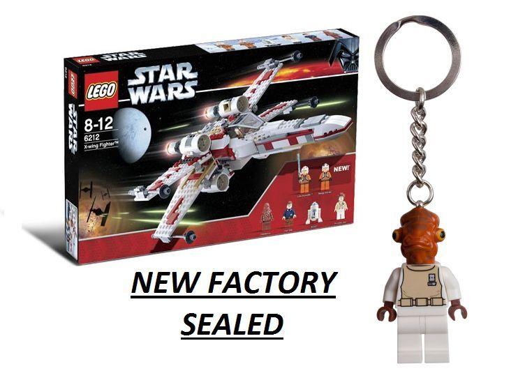 Lego Star Wars 6212 X-Wing minifg Cuña Skywalker Leia Han Solo Masticables Ackbar Nuevo