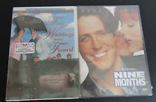 Four Weddings and a Funeral & Nine Month DVD New 2 Pack HUGH GRANT Free Shipping