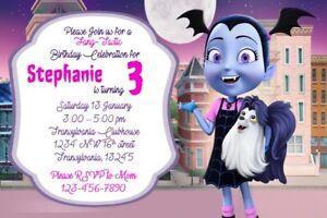 Details About Vampirina Birthday Party Invitation Printable