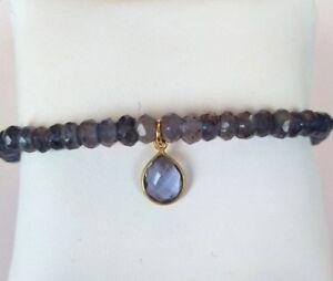 Iolith-Armband-925-Silber-vergoldet