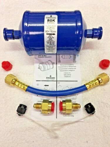 Refrigeration Recovery BOK163HH Pre-Filter /& Hose Kit OK for R410A BURN OUT