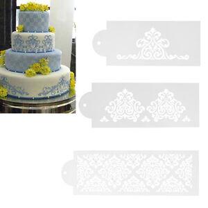 3x Spitze Hochzeitstorte Ausstechform Schablone Dekor Tortenrand