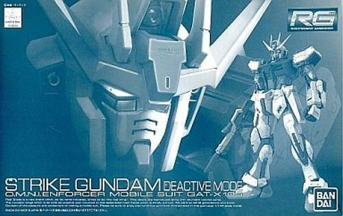 Bandai RG 1 144 GAT-X105 Golpe Gundam desactivar modo Kit Modelo Gundam semilla Nuevo