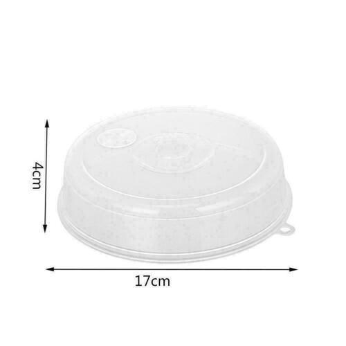Microwave Food Cover Plate Vented Splatter Protector Clear Kitchen Plastic X1C8