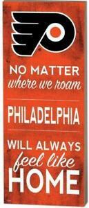 """Philadelphia Flyers """"No Matter Where We Roam"""" Wood Sign (New) Canada Preview"""
