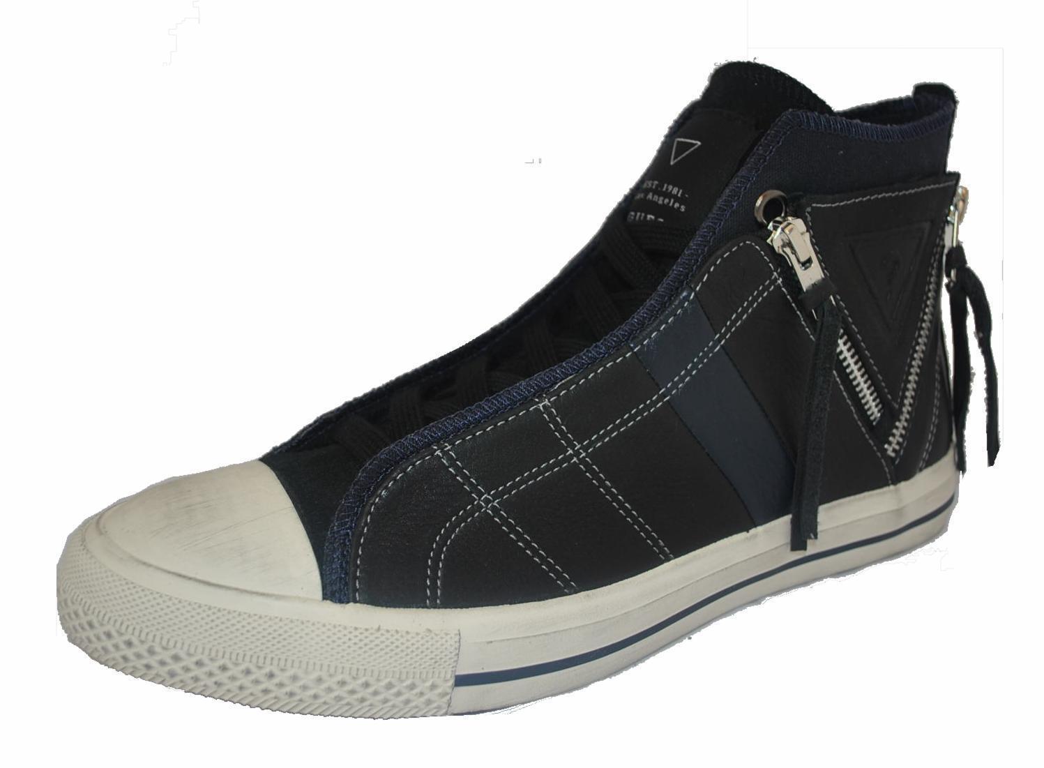 GUESS BREAK Herren,Men,Turnschuhe High,Schuhe,Navy-Schwarz-Weiß,NEU,Leder, ,    | Abrechnungspreis