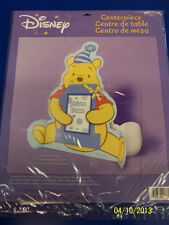 RARE Winnie the Pooh 1st Birthday Boy Party Decoration Paper Photo Centerpiece *