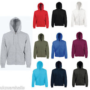 FRUIT-OF-THE-LOOM-HOODIE-FULL-ZIP-HOOD-TOP-9-COLOURS-S-XXL-GENUINE-PRODUCT