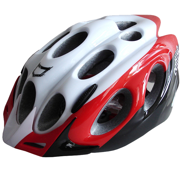 Casco bici Catlike KOMPACTO bike bianco rosso nero